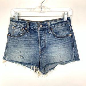 Levi's women's hi rise cutoff shorts sz 26